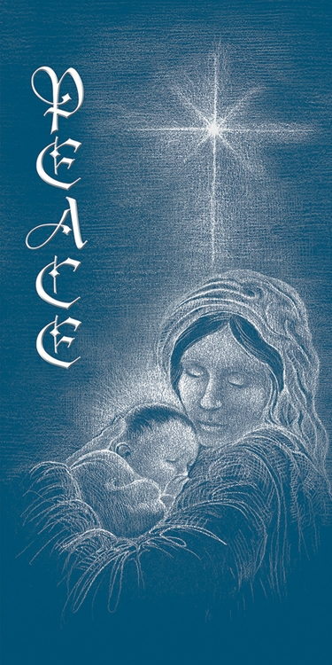 Banner Peace - Mary with Jesus