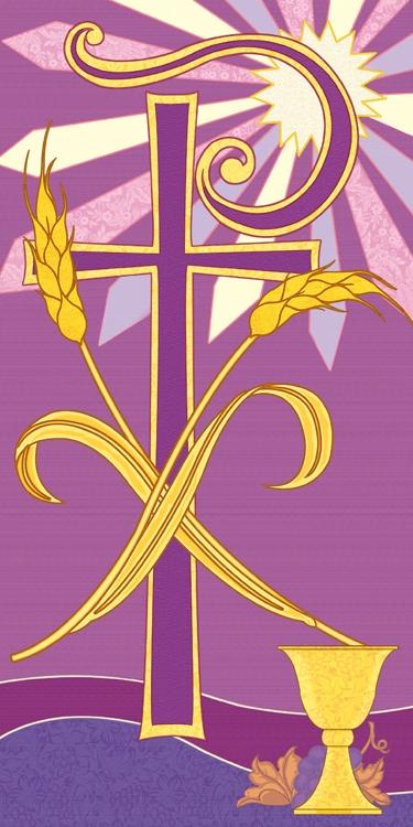Banner: Tapestry Chi Rho