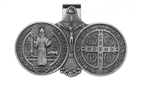 St. Benedict Medal Visor Clip - 6/PK