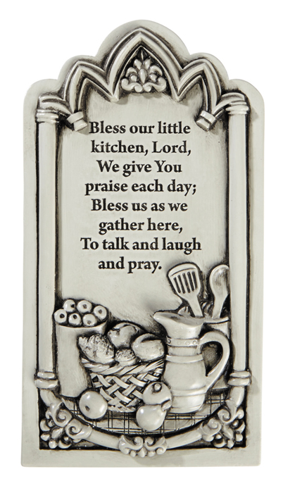 Kitchen Prayer Wall Plaque - 3/pk