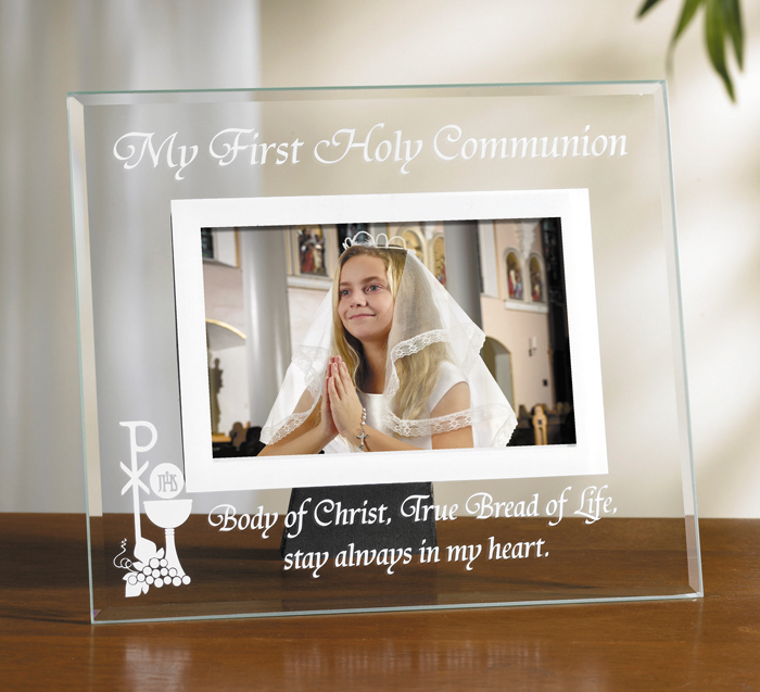 Body Of Christ Glass First Communion Photo Frame 6pk Sacramental