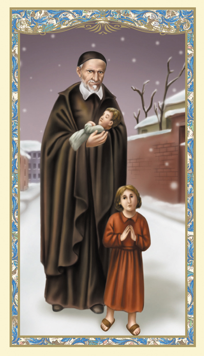 St. Vincent de Paul Holy Card - 100/pk