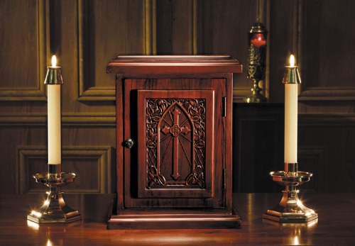 IHS Cross Maple Hardwood Tabernacle