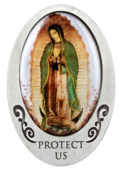 Our Lady of Guadalupe Visor Clip - 6/pk