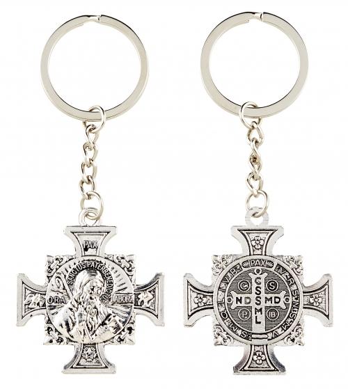 St. Benedict Maltese Cross Key Chain - 12/pk