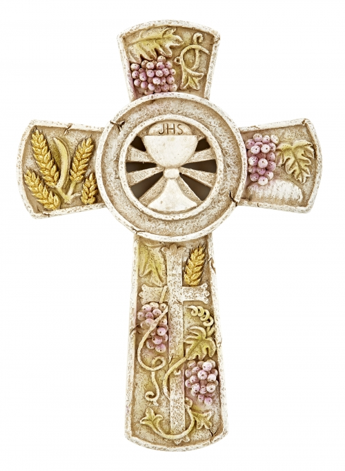 Chalice and Host First Communion Wall Cross - 3/pk