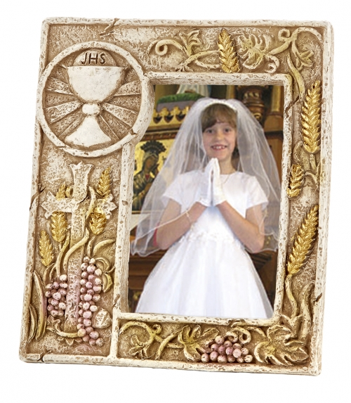 Chalice and Host First Communion Photo Frame - 4/pk