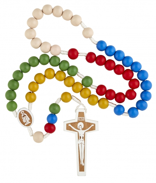 Laser Engraved Wood Mission Rosary - 12/pk