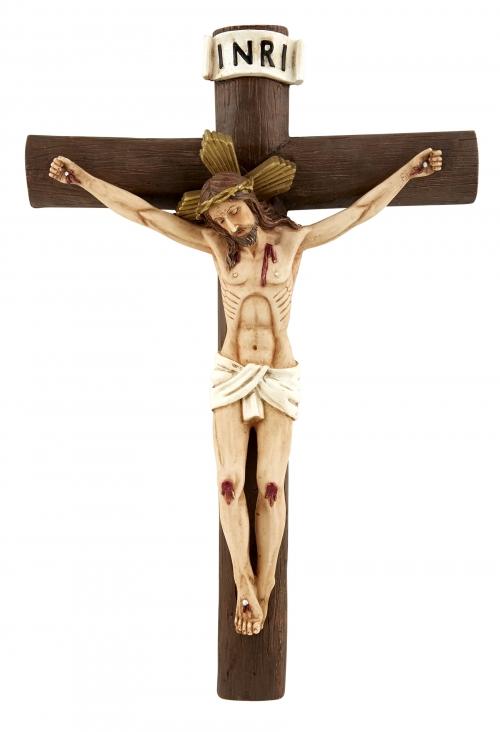 Log Style Wall Crucifix