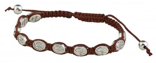 St. Pio Devotional Medal Bracelet - 12/pk