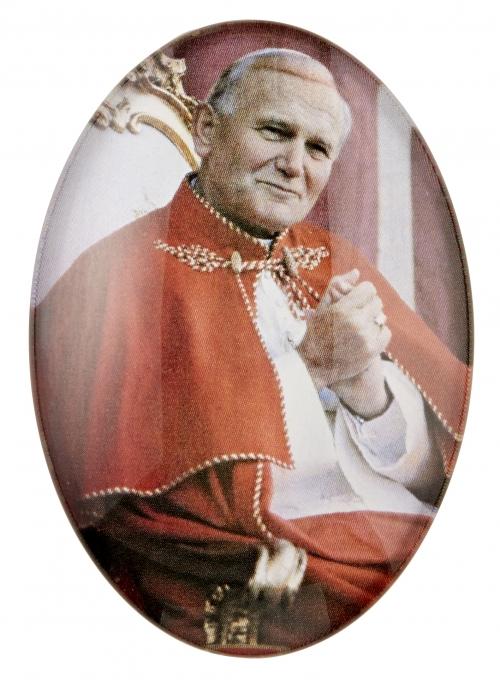 St. John Paul II Glass Magnet - 12/pk