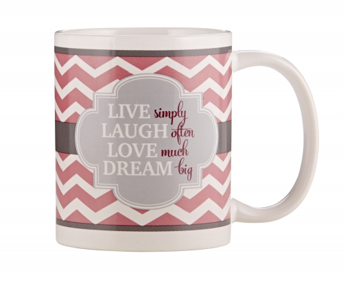 Live Well, Laugh Often, Love Much, Dream Big Mug - 12/pk