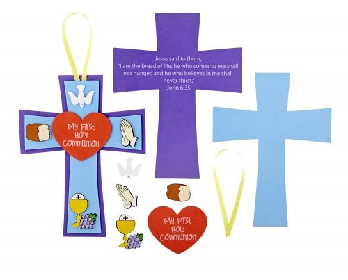 First Communion Cross Foam Craft Kit - 24 kits/pk