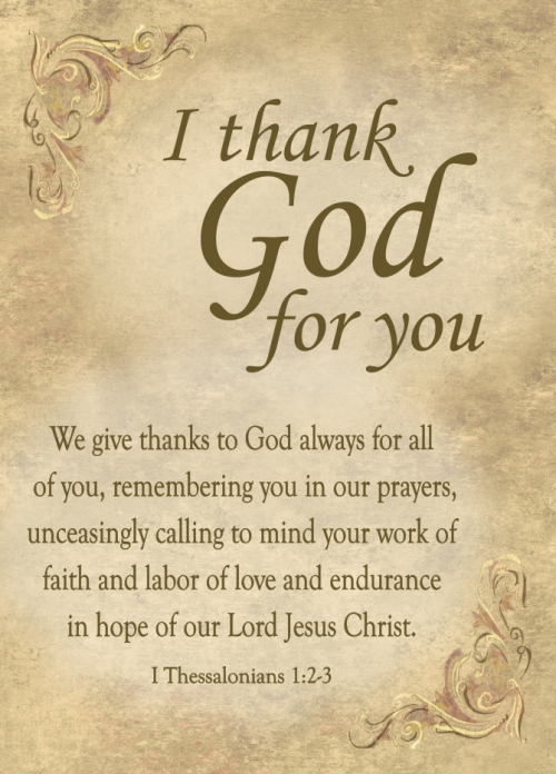 I Thank God For You Journal - 12/pk