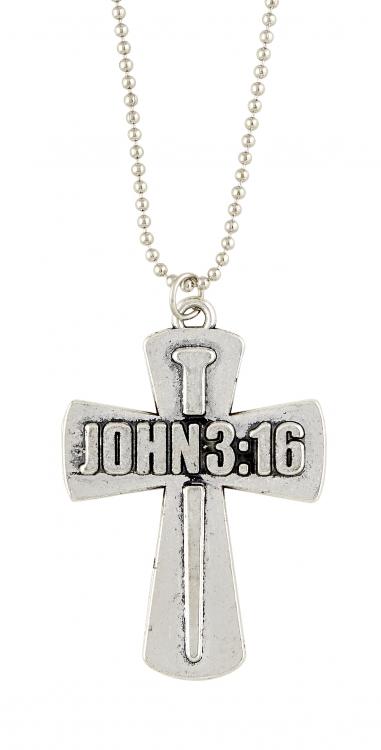 John 3:16 Nails Cross Pendant - 12/pk