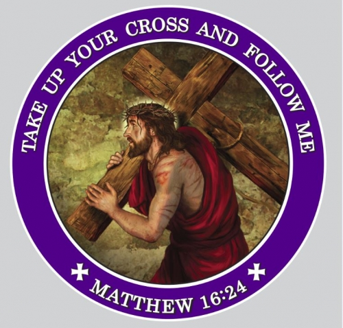 Take Up Your Cross Auto Magnet - 24/pk