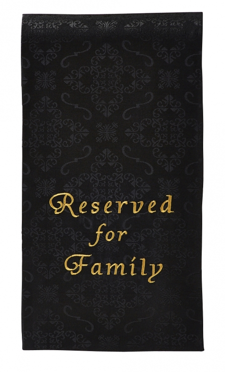 Reserved for Family Pew Cloth - 4/pk