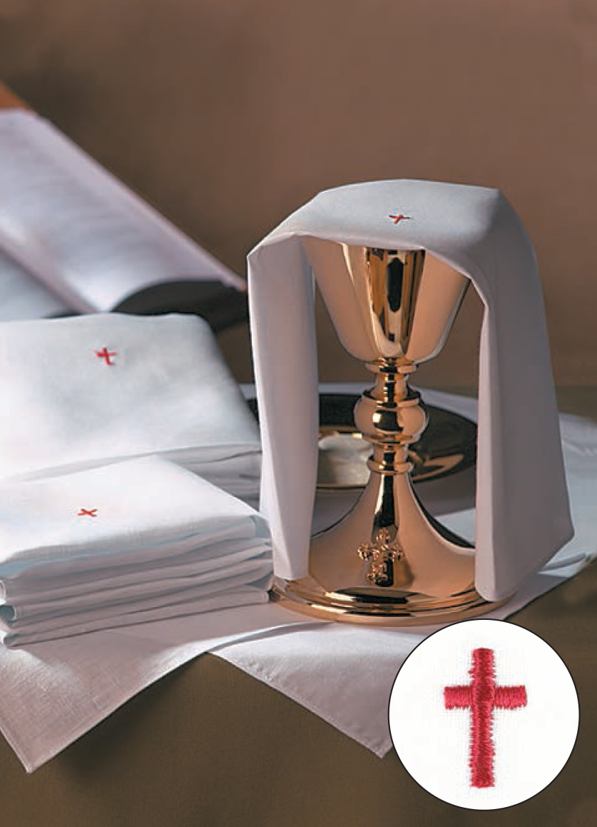 Red Cross Mass Linens Set - 100% Cotton