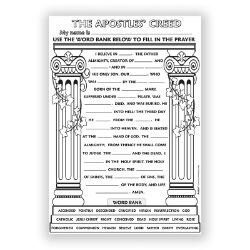 Color Your Own Poster - The Apostle's Creed - 50/pk