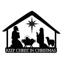 Nativity Stable Christmas Auto Magnet - 24/pk