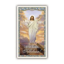 Risen Christ Easter Holy Card - 100/pk
