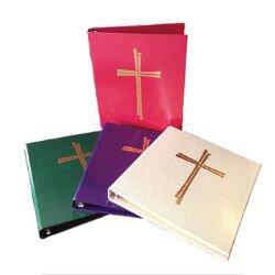 Ceremonial Binder with Cross Design - Set of 4