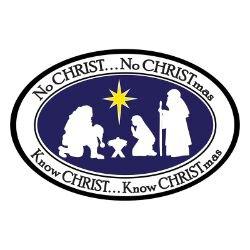 No CHRIST... No CHRISTmas Auto Magnet - 24/pk