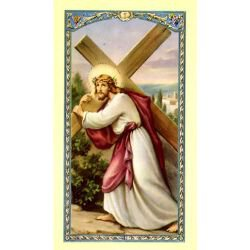 Christ Carrying the Cross Laminated Holy Card - 25/pk