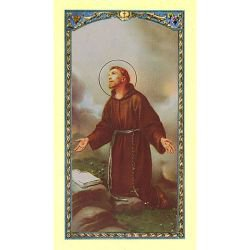 St. Francis Laminated Holy Card - 25/pk