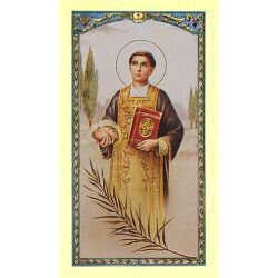 St. Stephen Laminated Holy Card - 25/pk