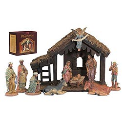 10-pc Nativity Set with Stable