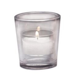 10-Hour Votive Holder (Clear) - 12/pk