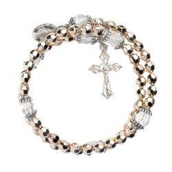 Gold Wrap Style Rosary Bracelets - 12/pk