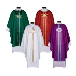 Lucia Collection Chasubles - Set of 4