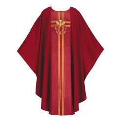 Lucia Collection Chasuble - Pentecost/Confirmation