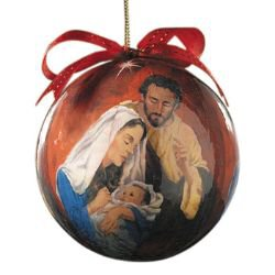 Tidings of Great Joy Decoupage Ornament - 6/pk