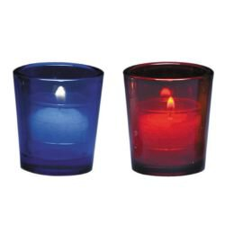 15-Hour Votive Holder (Color) - 12/pk