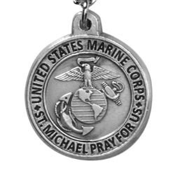 Creed® Heritage Collection St. Michael Medal - Marine Corps