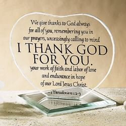 I Thank God for You Heart Stand - 12/pk