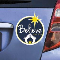 Believe Christmas Auto Magnet - 24/pk