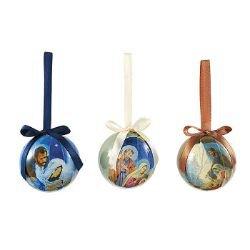 Nativity Decoupage Ornament Assortment (3 Asst) - 24/pk