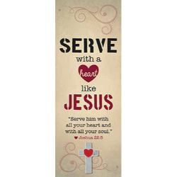 Serve with a Heart Like Jesus Lapel Pin with Bookmark - 12/pk