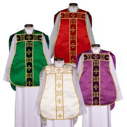 Roman Chasuble with Accessories - Set of 4