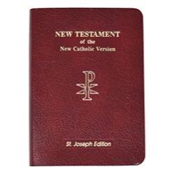 St Joseph NAB New Testament - Leather Vest Pocket Ed