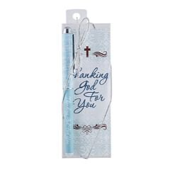 Thanking God for You Gift Pen with Bookmark - 12/pk