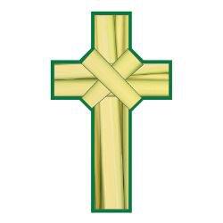 Palm Cross Bookmark - 100/pk
