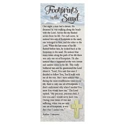 Footprints Lapel Pin with Bookmark - 12/pk