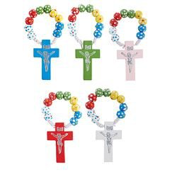 Colorful Rosary Ring Assortment (5 Asst) - 50/pk