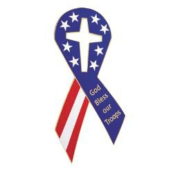 God Bless Our Troops Auto Magnet - 24/pk
