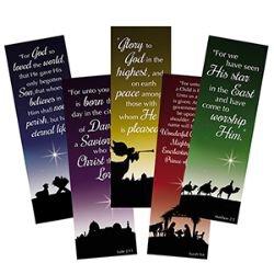 Christmas Silhouette Bookmark Assortment (5 Asst) - 100/pk